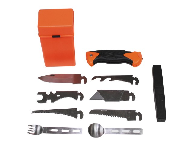 Combat Survival Kit, SPECIAL, 27 pcs, orange box