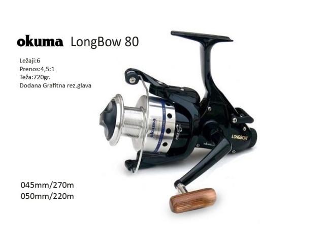 Fishing reel OKUMA LONGBOW LB 80 baitra