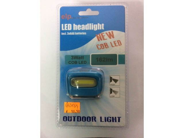 Naglavna svetilka ELP Outdoor Light 3W COB Led 162lm - modra