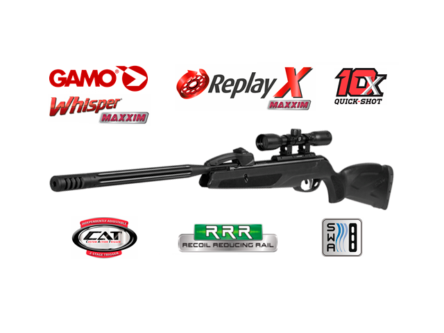 Zračna puška Gamo - REPLAY10 MAXXIM   4x32 WITH MAGAZINE