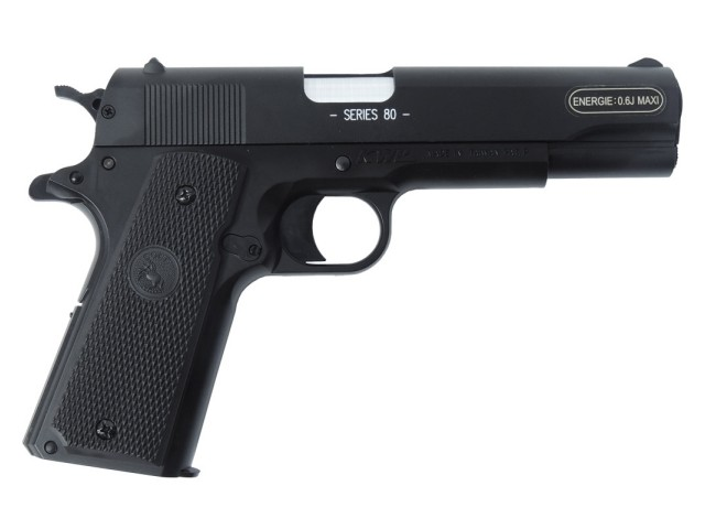 Pištola airsoft vzmetna COLT 1911-A1 military - metal slide