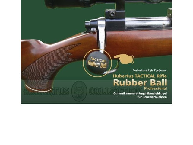 Rubber ball for bolt action rifles